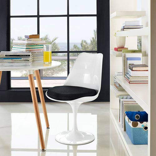 Modway Furniture Lippa Dining Fabric Side Chair in Black