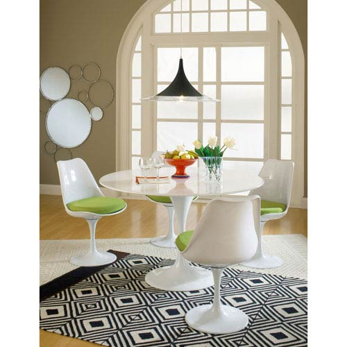 Modway Furniture Lippa Dining Fabric Side Chair in Green