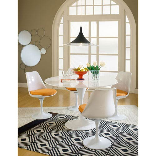 Lippa Dining Fabric Side Chair in Orange