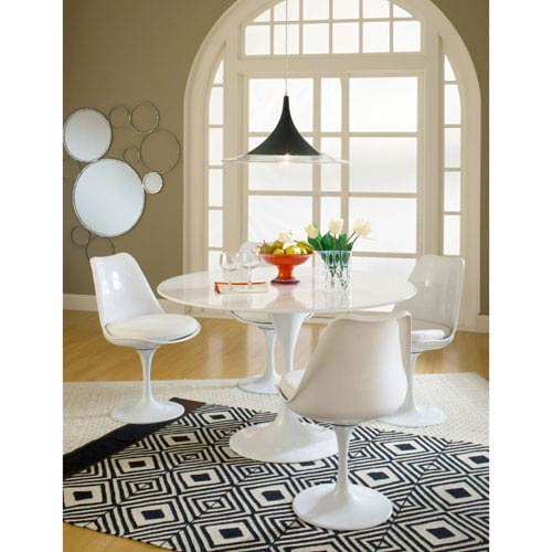 Modway Furniture Lippa Dining Fabric Side Chair in White