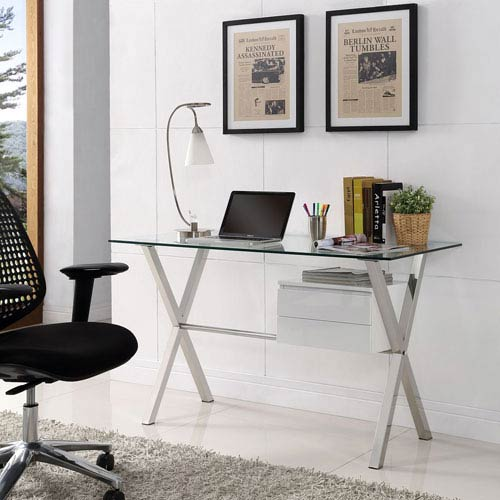 Modway Furniture Stasis Office Desk In White