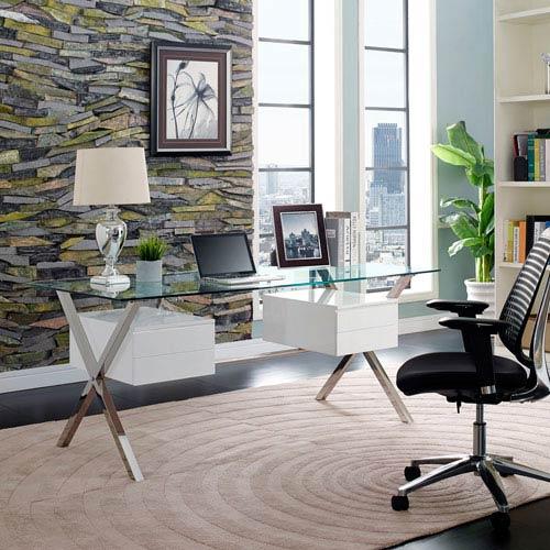 Modway Furniture Abeyance Office Desk in White