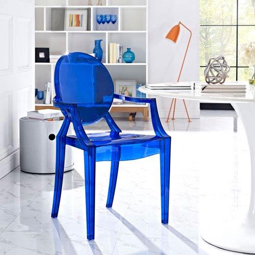 Casper Dining Armchair in Blue