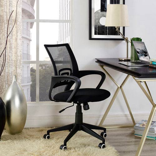 Modway Furniture Twilight Office Chair in Black