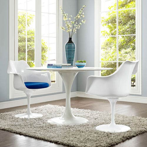 Lippa Dining Armchair Set of 2 in Blue
