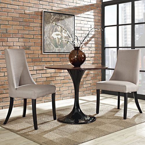 Reverie Dining Side Chair Set of 2 in Beige