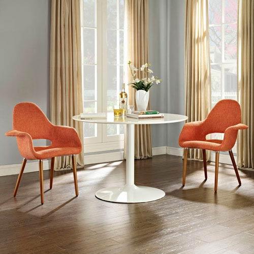 Aegis Dining Armchair Set of 2 in Orange