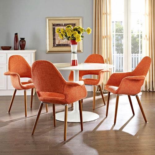 Aegis Dining Armchair Set of 4 in Orange