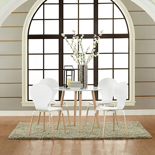 Path Dining Chair Set of 4 in White