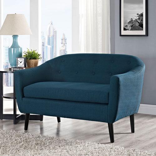 Modway Furniture Wit Loveseat in Azure