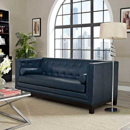 Modway Furniture Imperial Sofa in Blue
