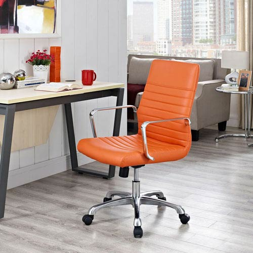 Finesse Mid Back Office Chair in Orange