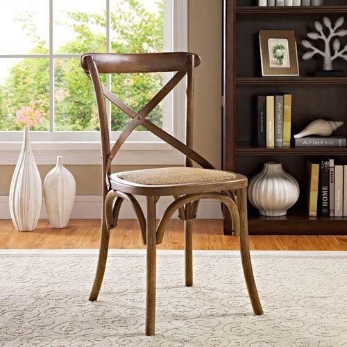 Gear Dining Side Chair in Walnut