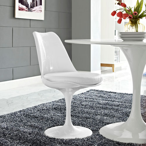 Lippa Dining Vinyl Side Chair in White