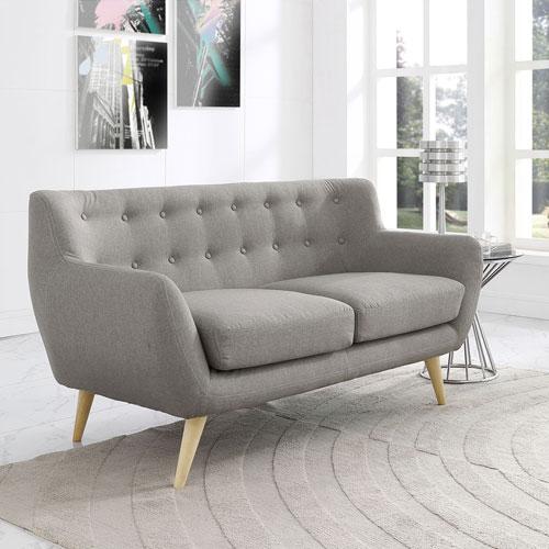 Modway Furniture Remark Loveseat in Light Gray