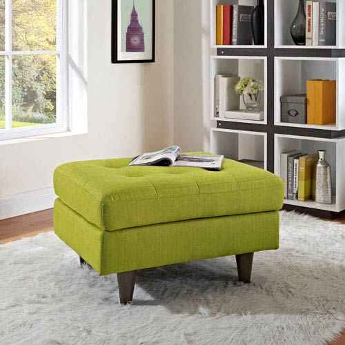 Empress Upholstered Ottoman in Wheatgrass