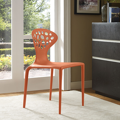 Animate Dining Chair in Orange
