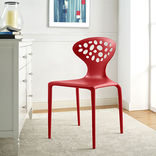 Modway Furniture Animate Dining Chair In Red Eei 1702 Red Bellacor