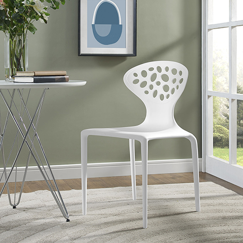 Modway Furniture Animate Dining Chair in White