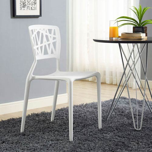 Modway Furniture Astro Dining Side Chair In White
