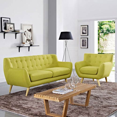 Modway Furniture Remark 2 Piece Living Room Set in Wheat