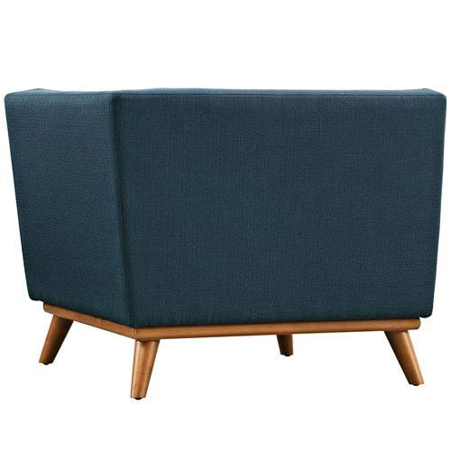 Modway Furniture Engage Corner Sofa in Azure