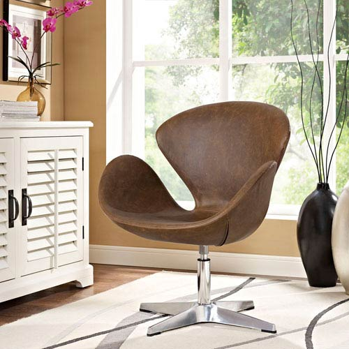 Flight Lounge Chair in Brown