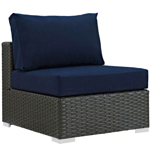 Sojourn Outdoor Patio Fabric Sunbrella® Armless in Canvas Navy