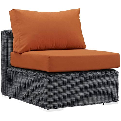 Modway Furniture Summon Outdoor Patio Sunbrella® Armless in Canvas Tuscan