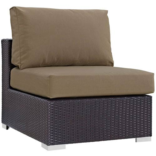 Modway Furniture Convene Outdoor Patio Armless in Espresso Mocha