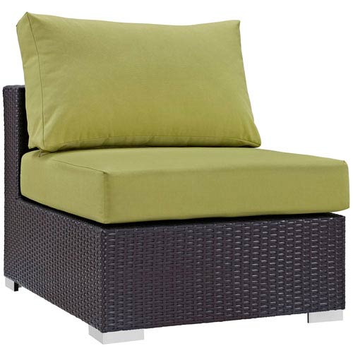 Modway Furniture Convene Outdoor Patio Armless in Espresso Peridot