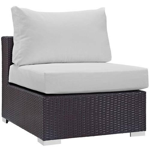 Modway Furniture Convene Outdoor Patio Armless in Espresso White