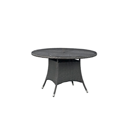 Sojourn 47-inch Round Outdoor Patio Dining Table in Chocolate