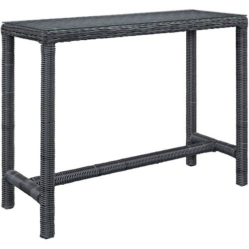 Summon Large Outdoor Patio Bar Table in Gray