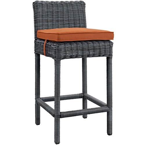 Modway Furniture Summon Outdoor Patio Sunbrella® Bar Stool in Canvas Tuscan