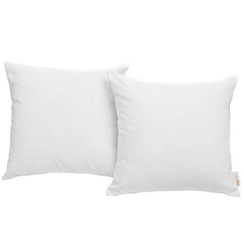 Convene Two Piece Outdoor Patio Pillow Set in White