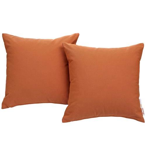 Summon 2 Piece Outdoor Patio Pillow Set in Tuscan