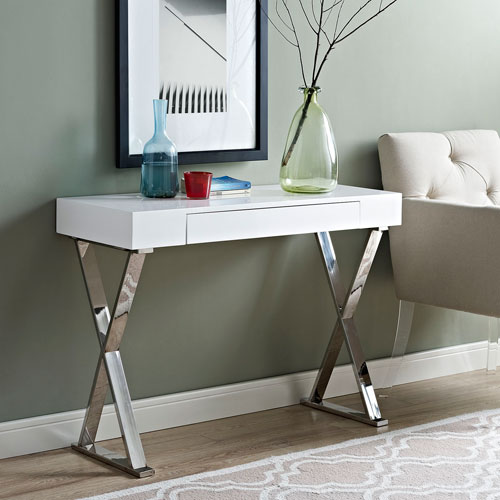 Modway Furniture Sector Console Table in White