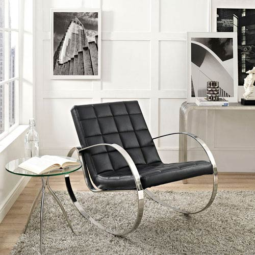 Gravitas Lounge Chair in Black