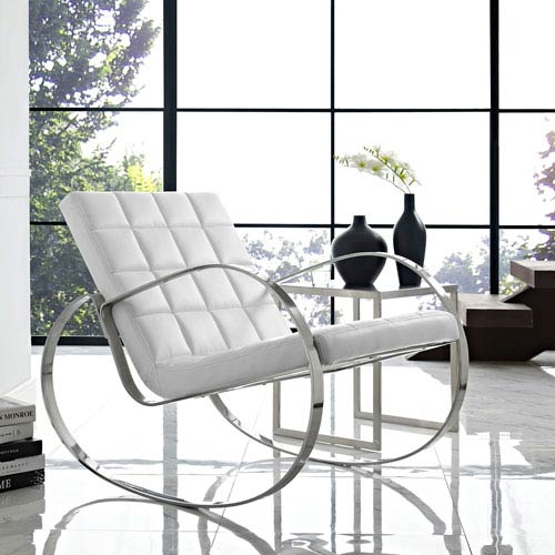 Gravitas Lounge Chair in White
