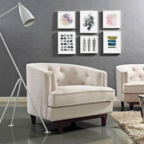Modway Furniture Coast Armchair in Beige