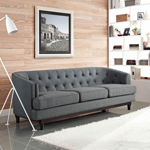Modway Furniture Coast Sofa in Gray