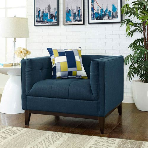 Modway Furniture Serve Armchair in Azure