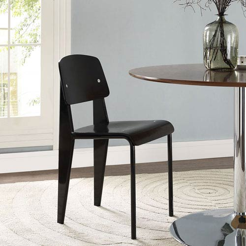 Cabin Dining Side Chair in Black