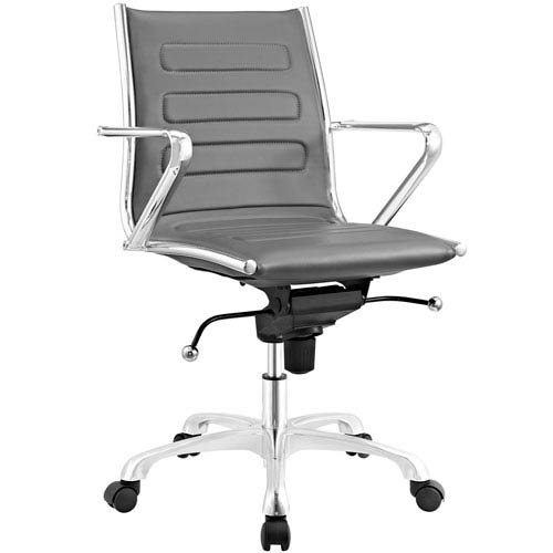 Modway Furniture Ascend Mid Back Office Chair in Gray