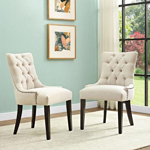 Regent Fabric Dining Chair in Beige