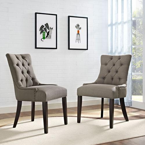 Regent Fabric Dining Chair in Granite