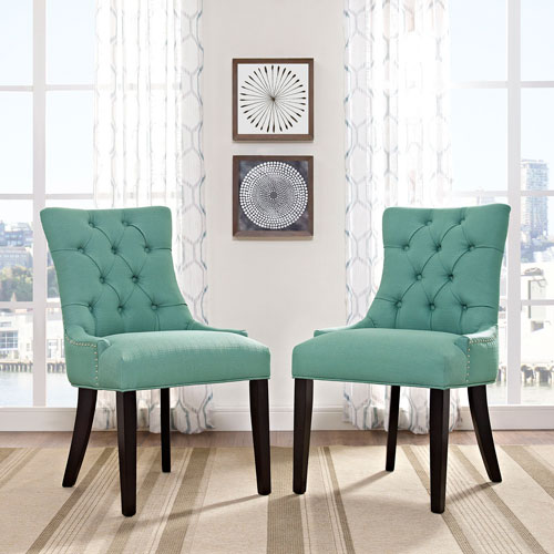 Modway Furniture Regent Fabric Dining Chair in Laguna