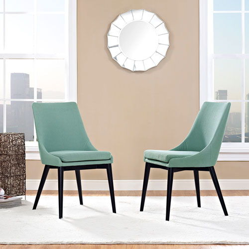 Modway Furniture Viscount Fabric Dining Chair in Laguna