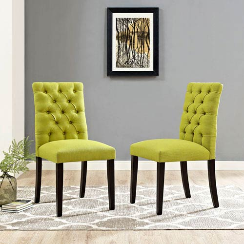 Duchess Fabric Dining Chair in Wheatgrass